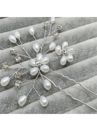 Beautiful Rhinestone/Imitation Pearls Hairpins (Sold in single piece)