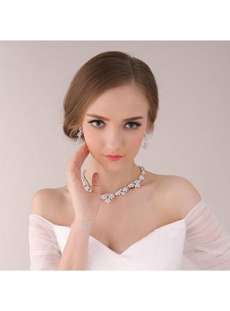 """Jewelry Sets Alloy/Rhinestones Ladies' Attractive 23.62""""(Approx.60cm) Wedding & Party Jewelry"""