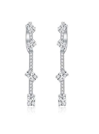 Earrings Zircon Earclip Ladies' Elegant Wedding & Party Jewelry