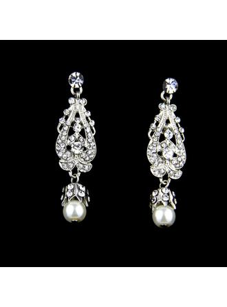 Charmen Legering/Rhinsten/Imiteret Pearl med Rhinsten/Imiteret Pearl Ladies ' øreringe