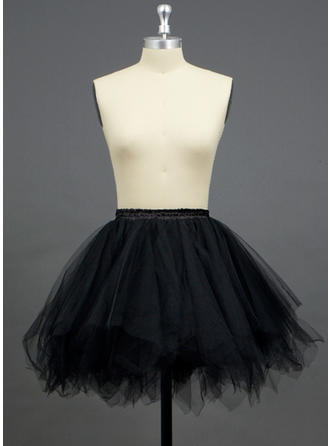 Petticoats Short-length Tulle Netting/Polyester A-Line Slip/Half Slip 3 Tiers Petticoats