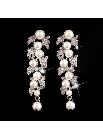 Earrings Alloy/Rhinestones/Imitation Pearls Imitation Pearls Pierced Ladies' Wedding & Party Jewelry