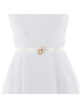Women Satin/Alloy With Imitation Pearls Sash Elegant Sashes & Belts