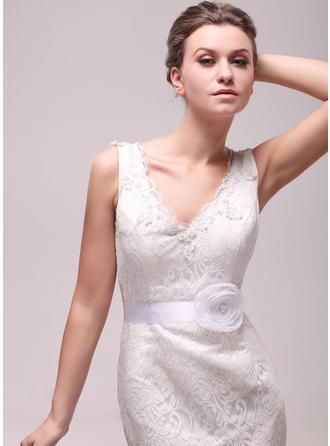 Women Satin/Organza With Flower/Imitation Pearls Sash Elegant Sashes & Belts