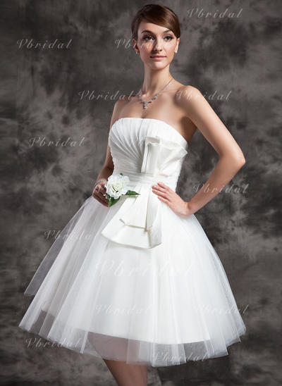 Deslumbrante Sin mangas Sin tirantes con Tul Vestidos de novia (002210459)