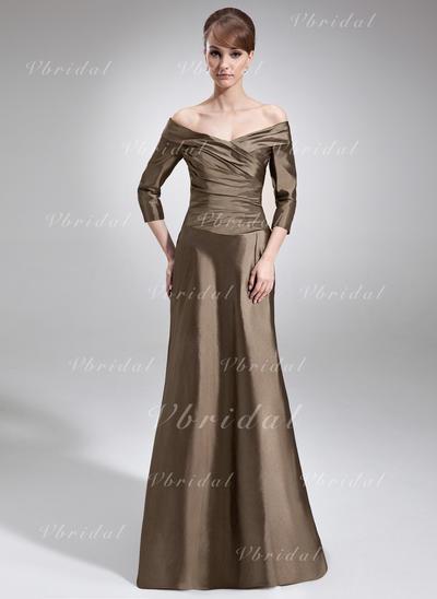 Elegante Tafetán Fuera del hombro Corte A/Princesa Vestidos de madrina (008006211)