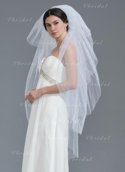 пальца фаты Тюль шесть слоя Классический с Обрезанная кромка Свадебная вуаль (006109870)
