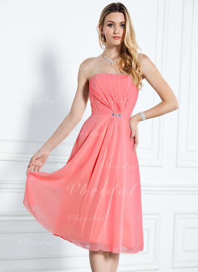 Aライン/プリンセスライン2 膝上丈 シフォン General プラス ブライドメイドドレス (007000916)