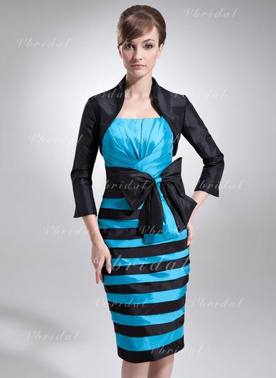 Delicado Tafetán Vestido tubo Vestidos de madrina (008006280)