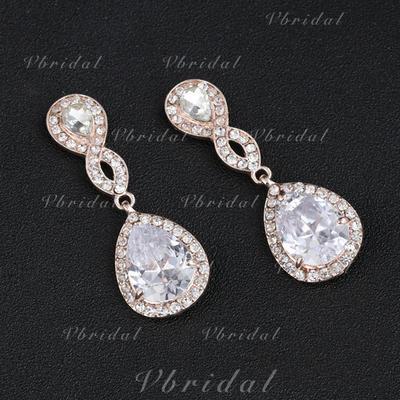 Pendientes Aleación/Diamantes de imitación Perforado Señoras' Hermoso Joyas de boda & fiesta (011106564)