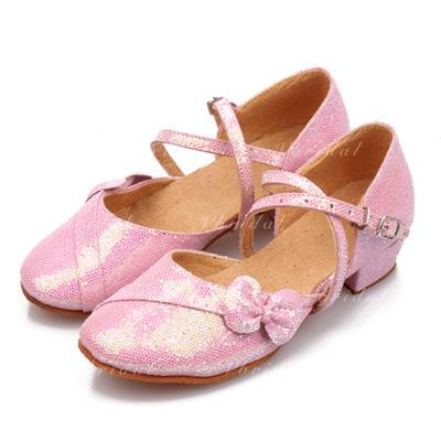 De mujer Sala de Baile Sandalias Cuero con Hebilla Agujereado Zapatos de danza (053109290)