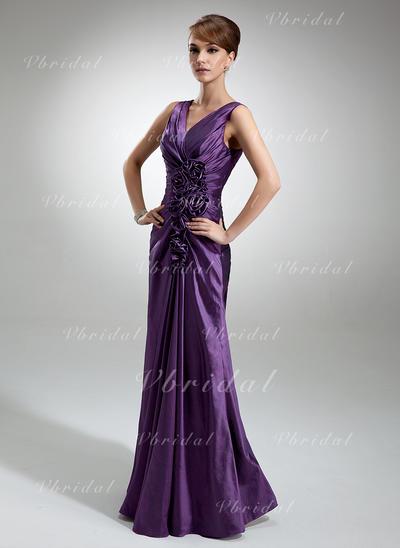 Sexy Тафта V-образный Платье-чехол Платья для матери невесты (008006196)