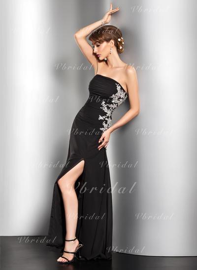 Simple Chiffon A-Line/Princess Zipper Up at Side Evening Dresses (017014527)