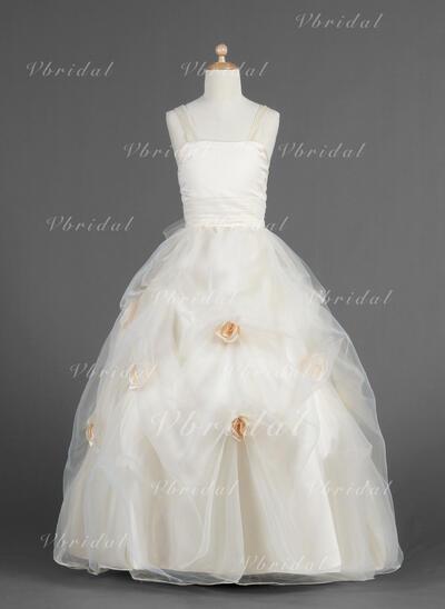 恋人 プリンセスライン1 フラワーガールドレス フラワー/アップスカートをピックアップ 袖なし マキシレングス (010014619)