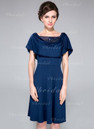 Corte A/Princesa Jersey Sexi cuello de la capucha Vestidos de madrina (008210524)