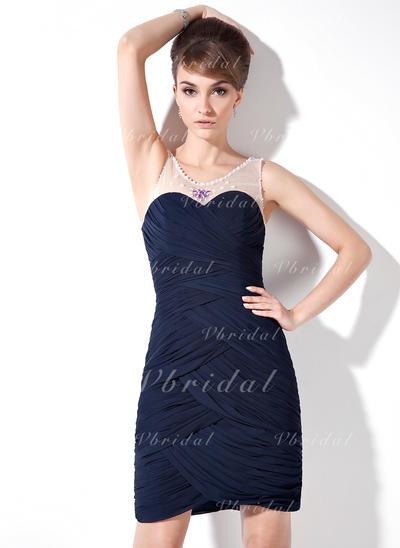 Magnífico Vestido tubo General Grande Gasa Baile de promoción (016021223)