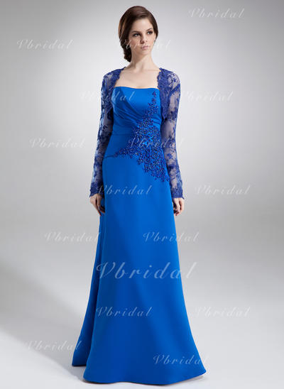 Ruffle Lace Beading Strapless Sexy Satin Mother of the Bride Dresses (008002217)