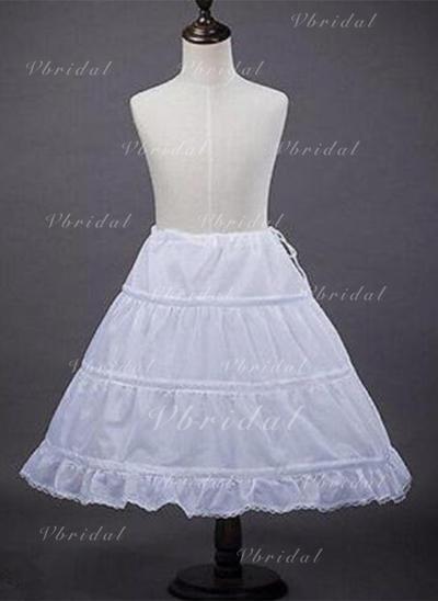 Bustle Tea-length Satin A-Line Slip/Flower Girl Slip 1 Tiers Petticoats (037190853)