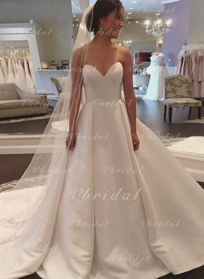 Corazón Cola corte - Corte de baile Satén Vestidos de novia (002148111)