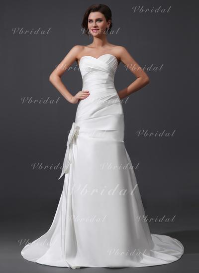 Halagador Sin mangas Corazón con Satén Vestidos de novia (002210502)