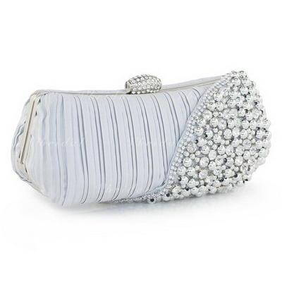 Clutches Wedding/Ceremony & Party Silk Clip Closure Elegant Clutches & Evening Bags (012184732)