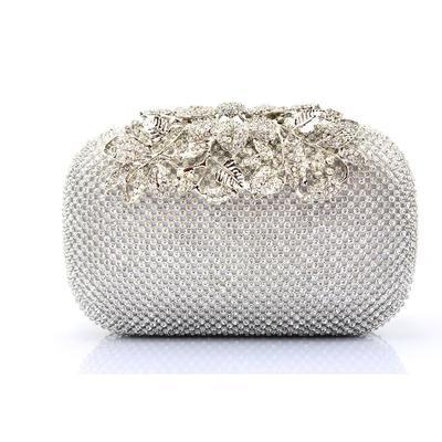Encanto Cristal / Diamante Bolso Claqué/Bolso de Mano (012105749)