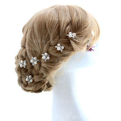 """Hairpins Special Occasion/Outdoor/Party Alloy 2.76""""(Approx.7cm) 0.98""""(Approx.2.5cm) Headpieces (042153802)"""