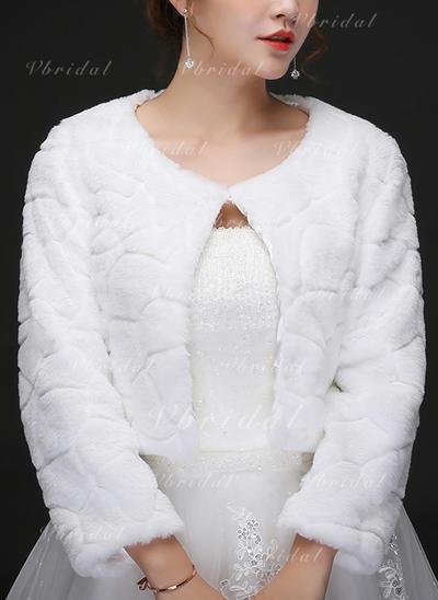 Wrap Wedding Artificial Wool Ivory Wraps (013150504)