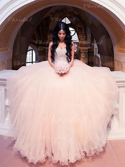 Cuentas Corte de baile con Tul Vestidos de novia (002148013)