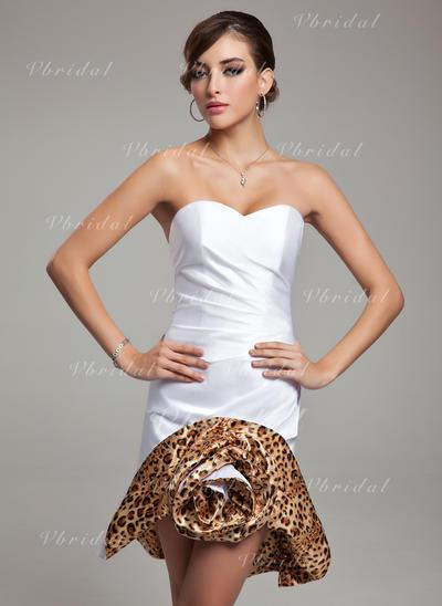 Precioso Vestido tubo Satén Baile de promoción (016008794)