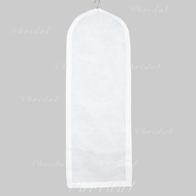Blanco Elegante Transpirable Vestido de novia Funda para Ropa (035024117)