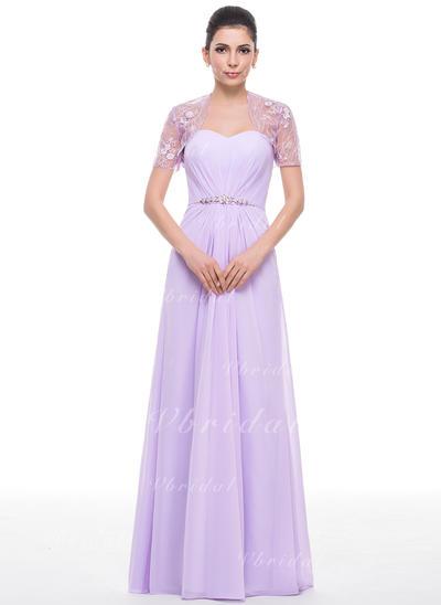 Corte A/Princesa Gasa Magnífico Novio Vestidos de madrina (008210603)