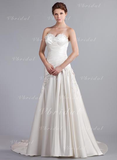 Novísimo Sin mangas Corazón con Satén Vestidos de novia (002210499)