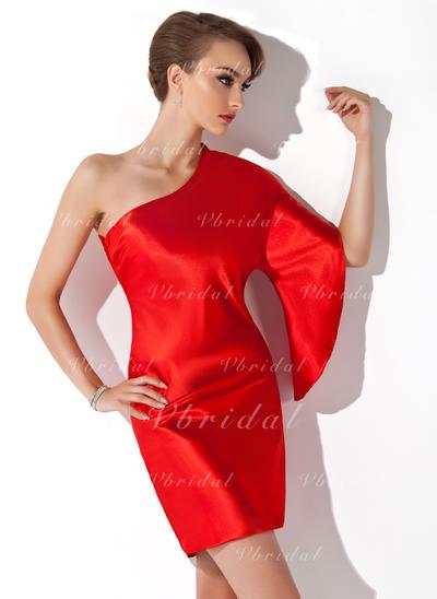 Sheath/Column Stunning Charmeuse General Plus Cocktail Dresses (016021171)