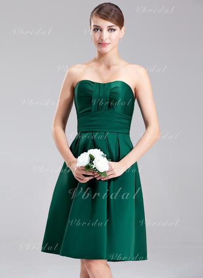 Magnificent Sweetheart A-Line/Princess Sleeveless Satin Bridesmaid Dresses (007001887)