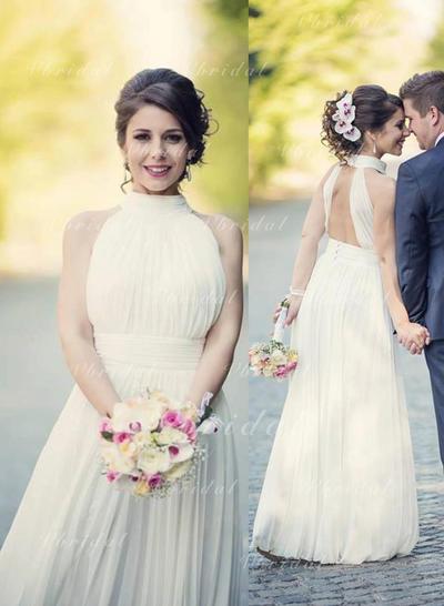 Princesa Volantes Corte A/Princesa con Gasa Vestidos de novia (002147935)