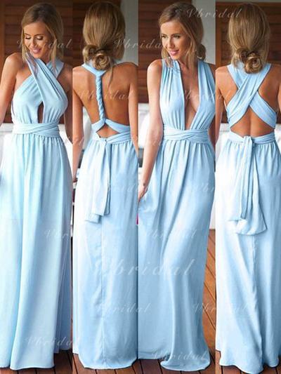 Aライン/プリンセスライン2 袖なし Vネック Jersey ブライドメイドドレス (007144974)
