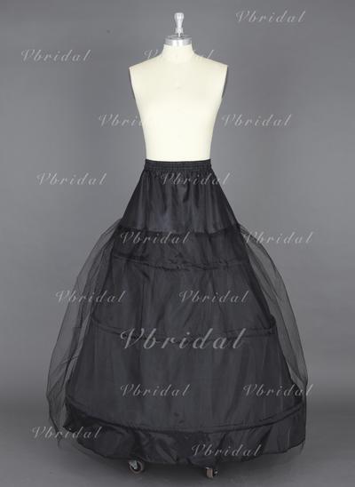 Petticoats Floor-length Nylon/Tulle Netting Ball Gown Slip 1 Tiers Petticoats (037190693)