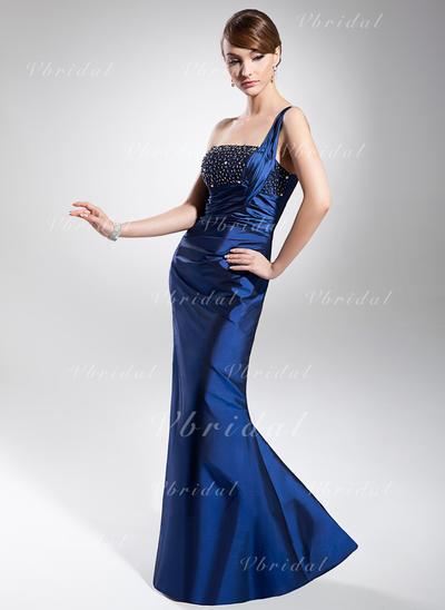 Magnificent Taffeta マーメイド アップジッパー イブニングドレス (017014681)