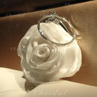 Precioso Satén/Cristal / Diamante Bolso Claqué/Mochila (012118271)