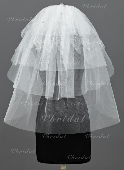 локоть фаты Тюль пять слоя Классический с Обрезанная кромка Свадебная вуаль (006034185)