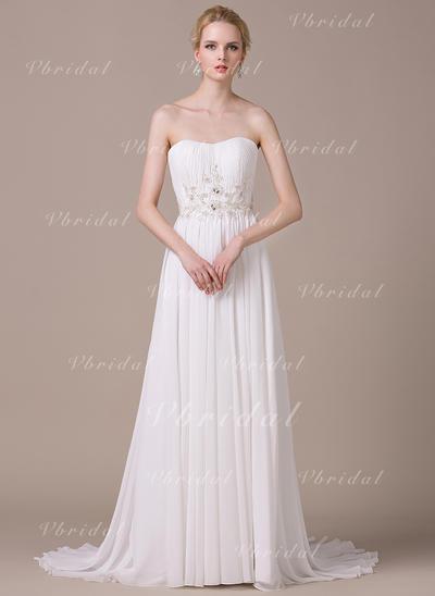 Elegante Gasa Vestidos de novia con Corte A/Princesa Corazón (002210612)
