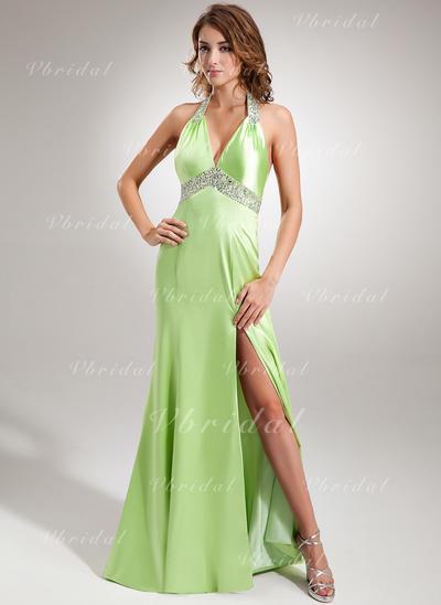 Stunning ホルター マーメイド Charmeuse イブニングドレス (017005605)