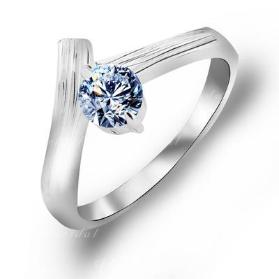 Rings Copper/Zircon/Platinum Plated Ladies' Exquisite Wedding & Party Jewelry (011165424)