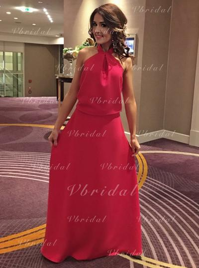 Corte A/Princesa Satén Cabestro Vestidos de baile de promoción (018146502)