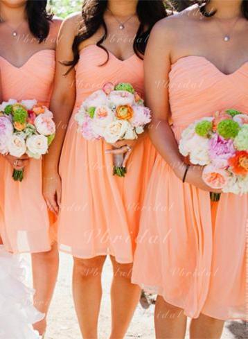 Sweetheart A-Line/Princess Chiffon Sleeveless Bridesmaid Dresses (007145035)