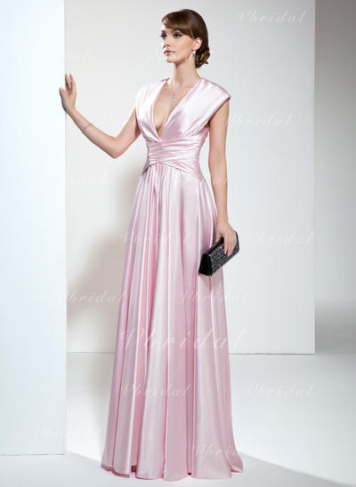 Gorgeous Charmeuse Vネック Aライン/プリンセスライン2 ミセスドレス (008006190)