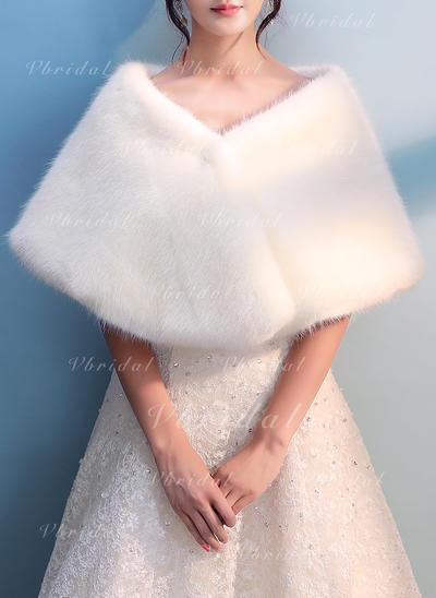 Wrap Wedding Faux Fur Ivory Wraps (013150266)