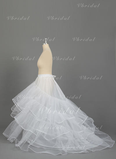 PLUS SIZE Petticoats Nylon/Tulle Netting Ball Gown Slip 3 Tiers Special Occasion Petticoats (037190791)