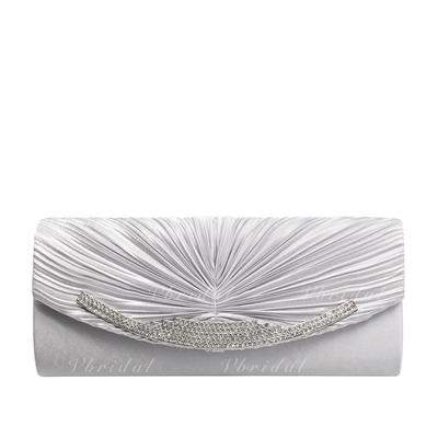 Clutches/Luxury Clutches Wedding/Ceremony & Party/Casual & Shopping/Office & Career Satin/Silk Magnetic Closure Elegant Clutches & Evening Bags (012187811)